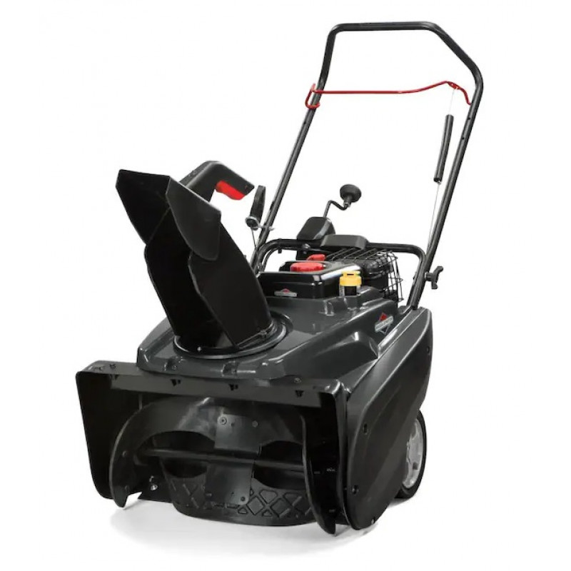 Briggs & Stratton 1022E 22-in 208-cc Single-Stage with Auger Assistance Gas Snow Blower with Push-Button Electric Start