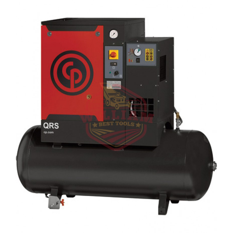 Chicago Pneumatic Quiet Rotary Screw Air Compressor with Dryer - 5 HP, 230 Volts, 1 Phase