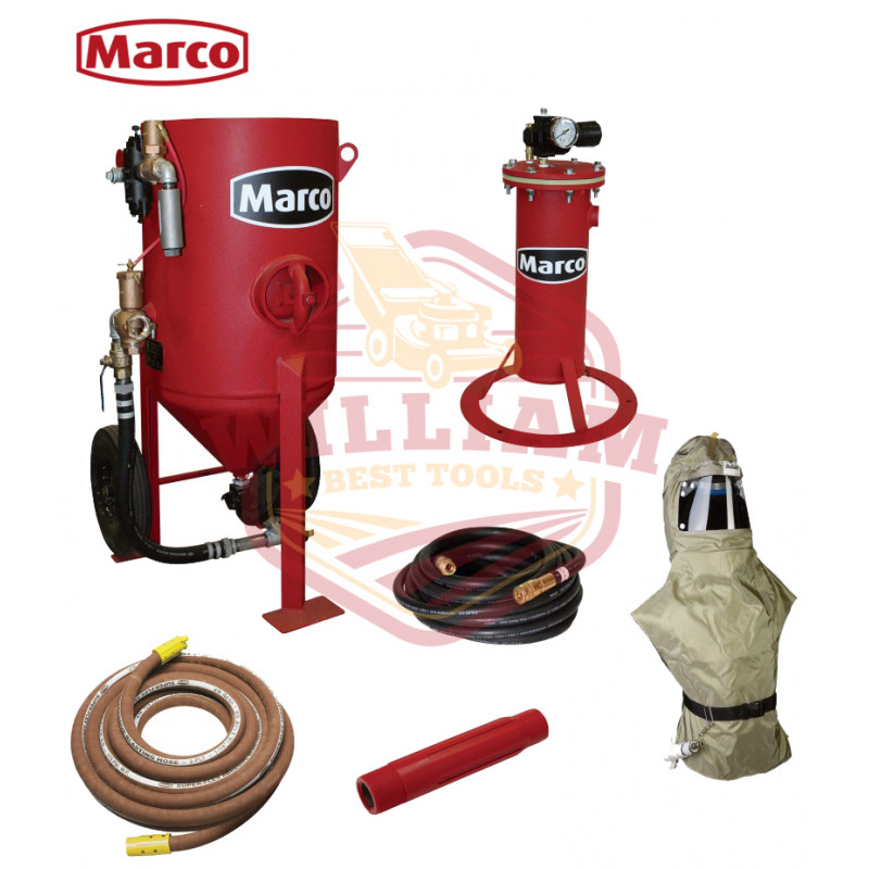 Marco Air-Blast Abrasive Blasting Package -600-Lb. Capacity, 6.0 Cubic Ft