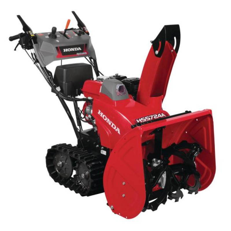 Honda 24 in. Two-Stage Hydrostatic Track Drive Electric Start Gas Powered Snow Blower with Electric Joystick Chute Control