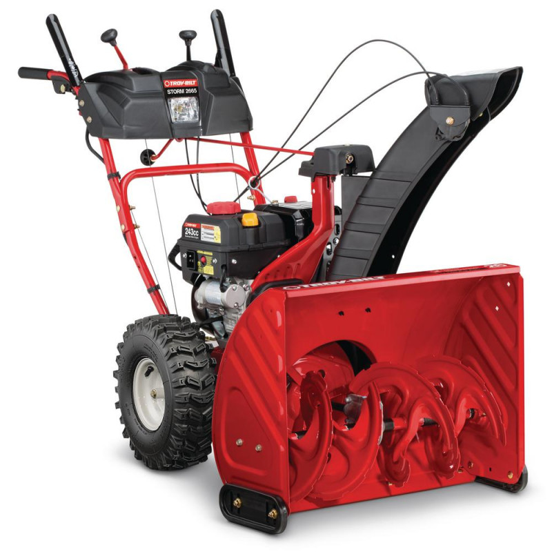 Troy-Bilt 26 in. 243 cc 2-Stage Gas Snow Blower with Electric Start Self Propelled and 1-Hand Operation