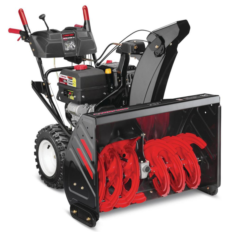 Troy-Bilt 34 in. 420 cc Two-Stage Gas Snow Blower with Electric Start, Power Steering and Electric 4-Way Chute Control