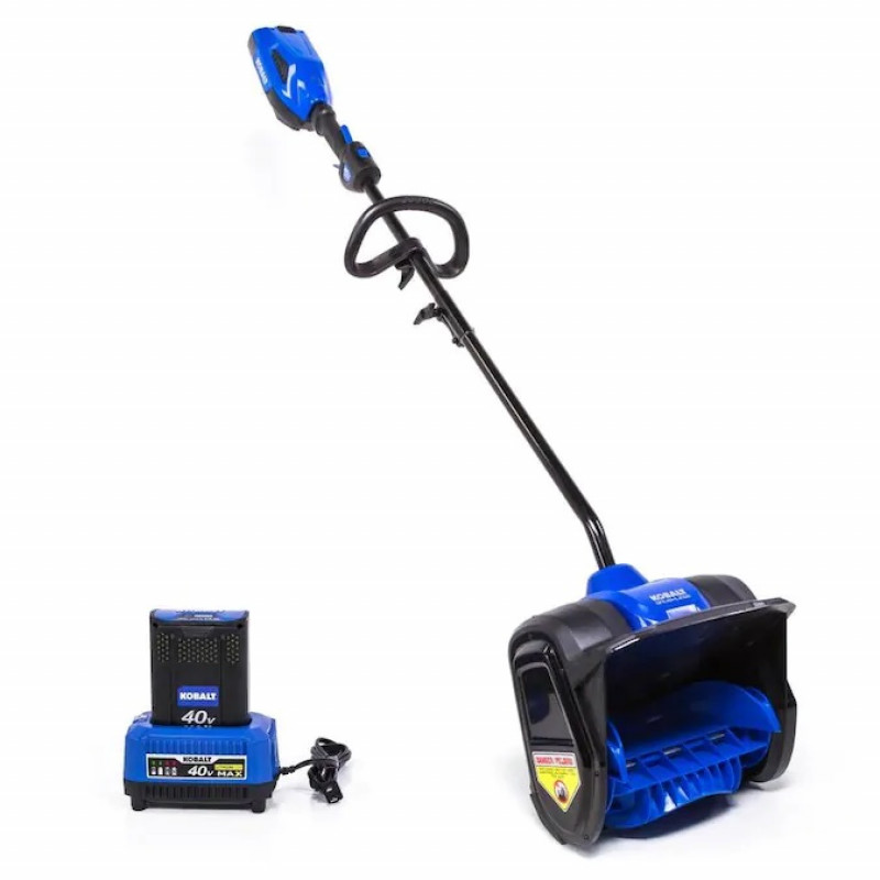 Kobalt 40-Volt Max 12-in Single-Stage Cordless Electric Snow Blower (Battery Included)