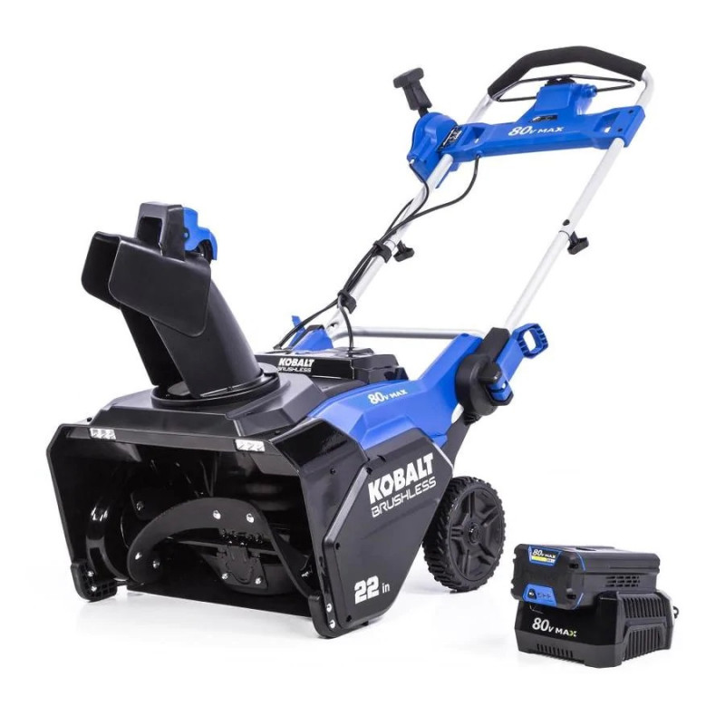 Kobalt 80-Volt Max 22-in Single-Stage Cordless Electric Snow Blower (Battery Included)