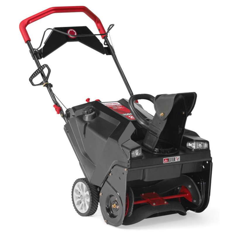 Troy-Bilt Squall 21 in. 208 cc Single-Stage Gas Snow Blower with Electric Start and E-Z Chute Control and Dual-LED Headlights