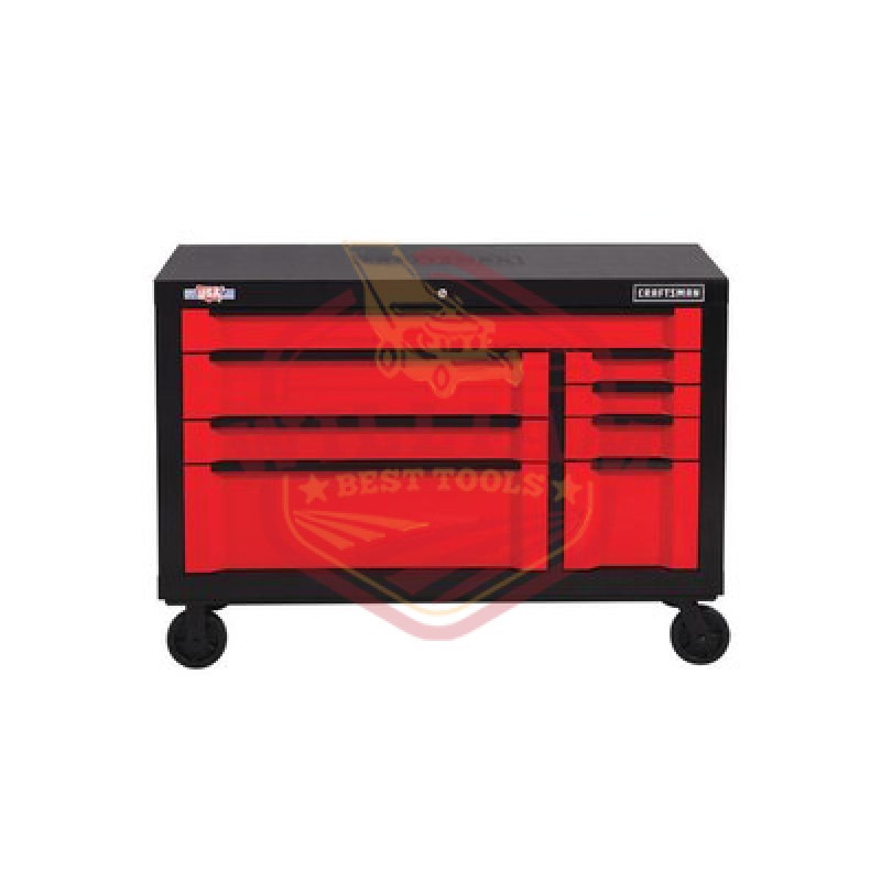 CRAFTSMAN 3000 Series 54-in W x 37-in H 8-Drawer Steel Rolling Tool Cabinet (Red)