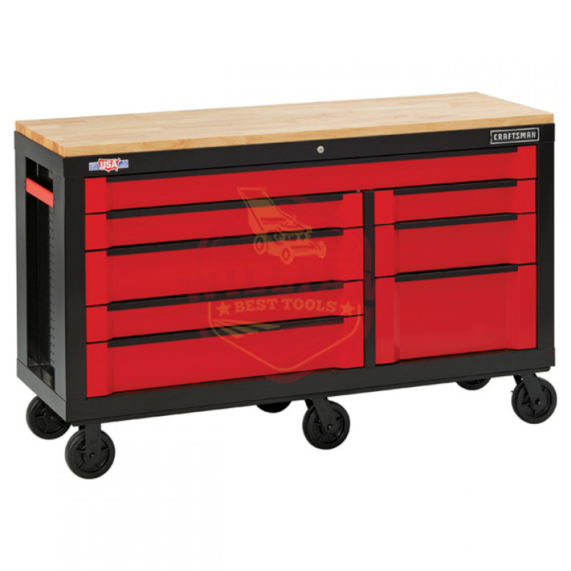 CRAFTSMAN 3000 Series 63-in W x 37-in H 8-Drawer Steel Rolling Tool Cabinet (Red)