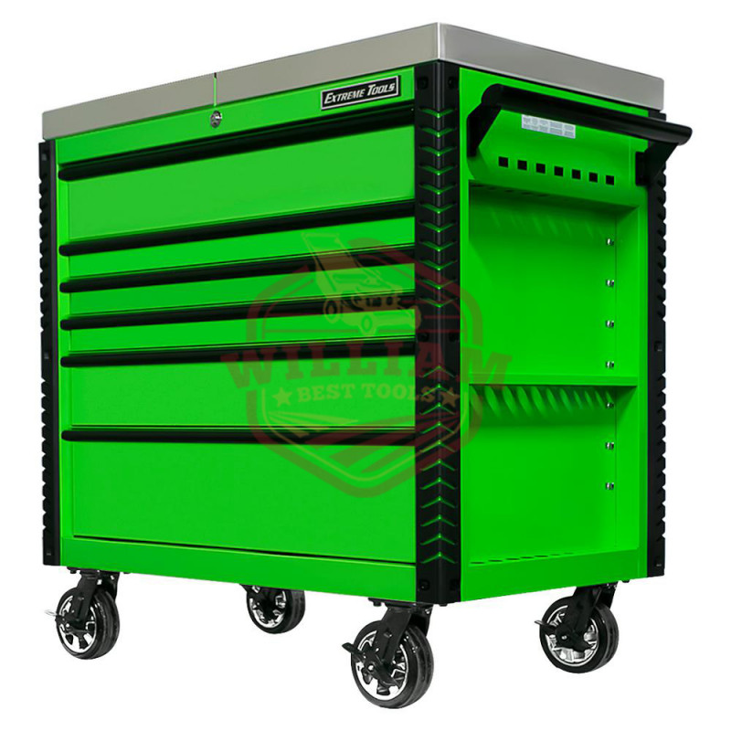 Extreme Tools EX 41-in W x 43-in H 6-Drawer Steel Rolling Tool Cabinet (Green)