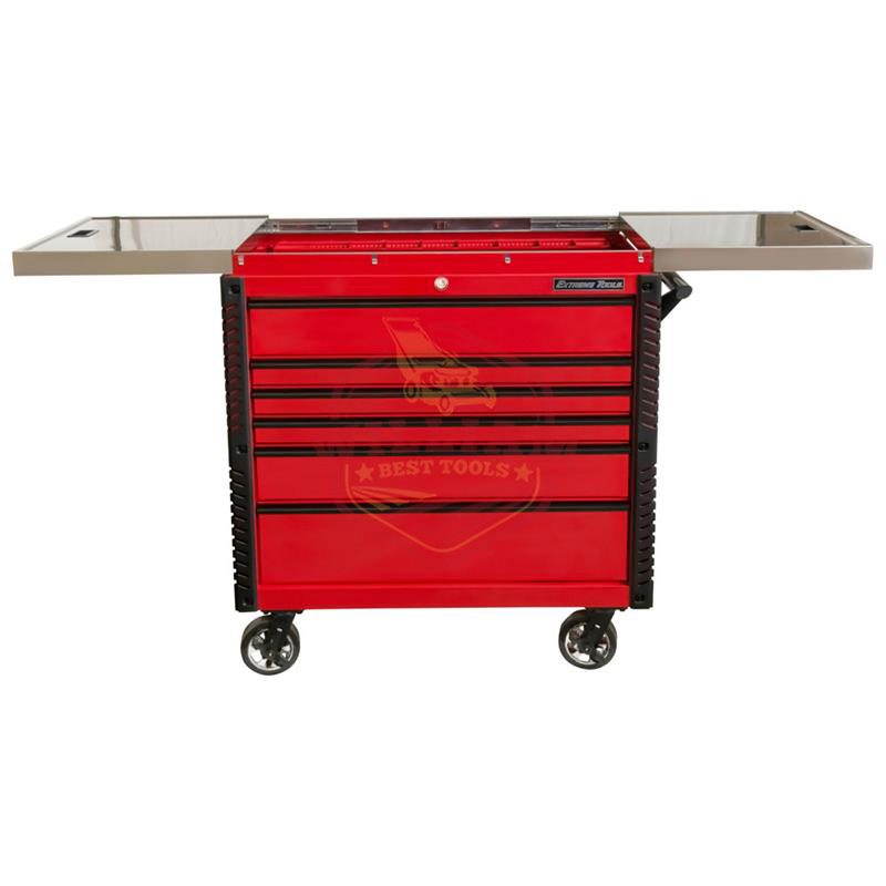 Extreme Tools EX 41-in W x 43-in H 6-Drawer Steel Rolling Tool Cabinet (Red)