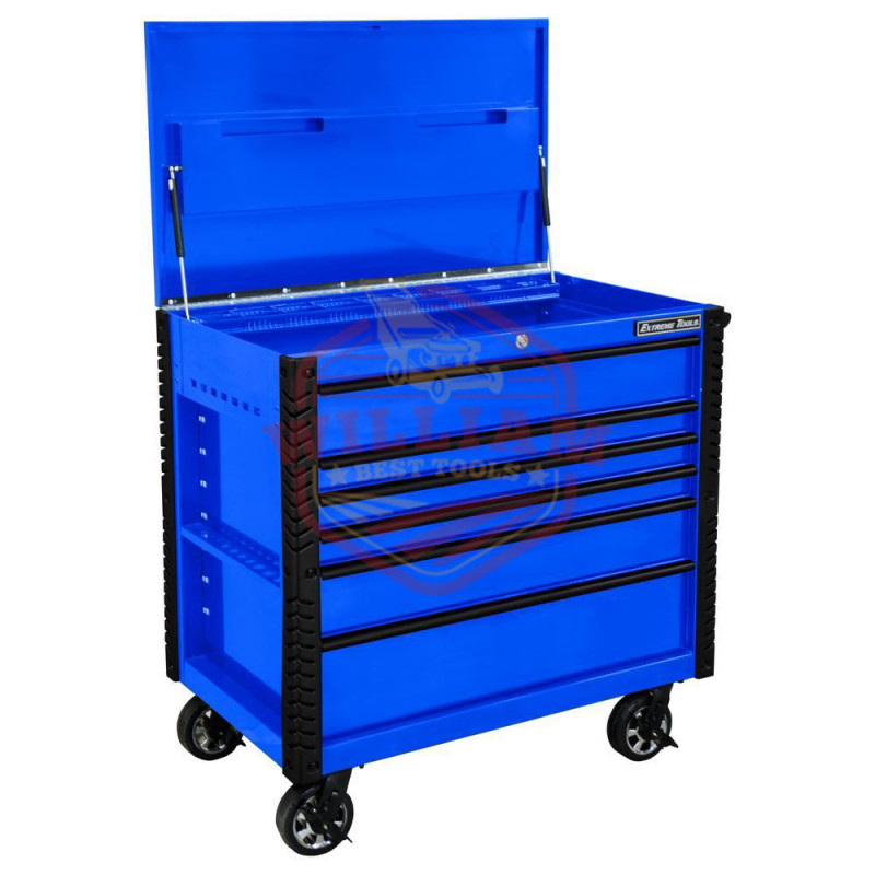 Extreme Tools EX 41-in W x 43.875-in H 6-Drawer Steel Rolling Tool Cabinet (Blue)