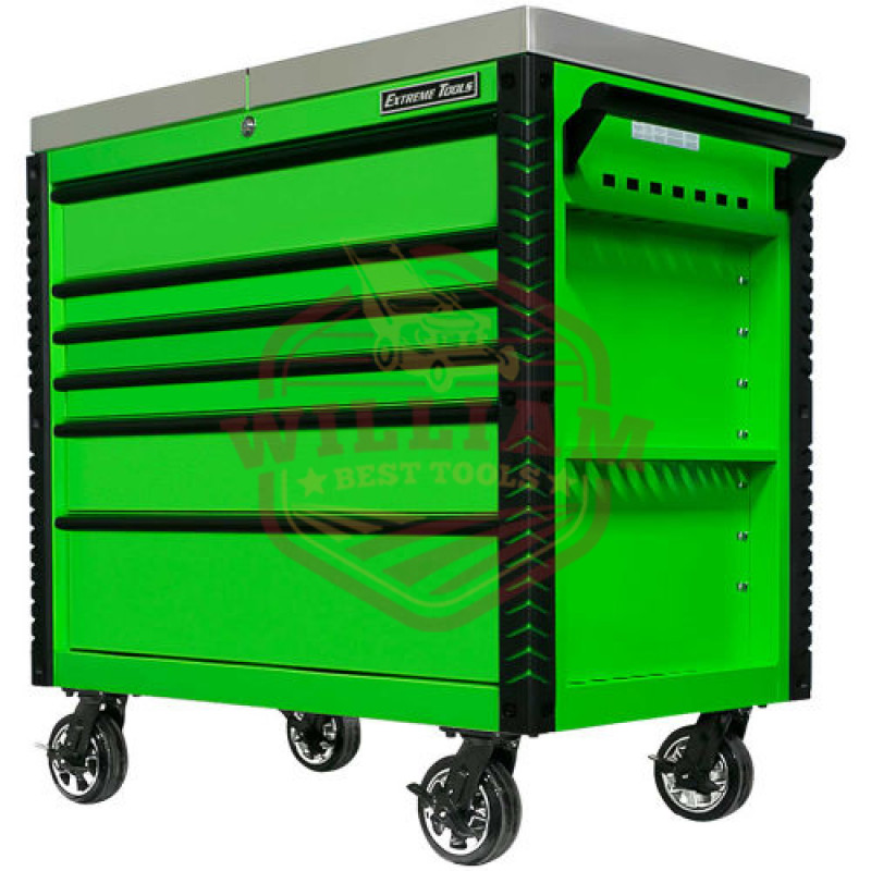 Extreme Tools EX 41-in W x 43.875-in H 6-Drawer Steel Rolling Tool Cabinet (Green)