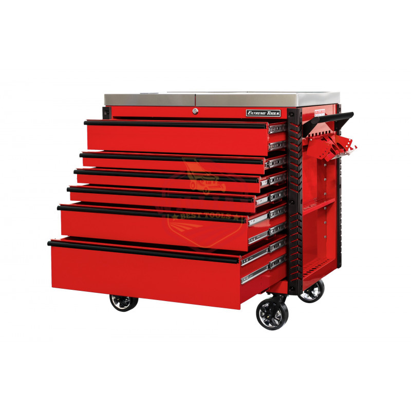 Extreme Tools EX 41-in W x 43.875-in H 6-Drawer Steel Rolling Tool Cabinet (Red)