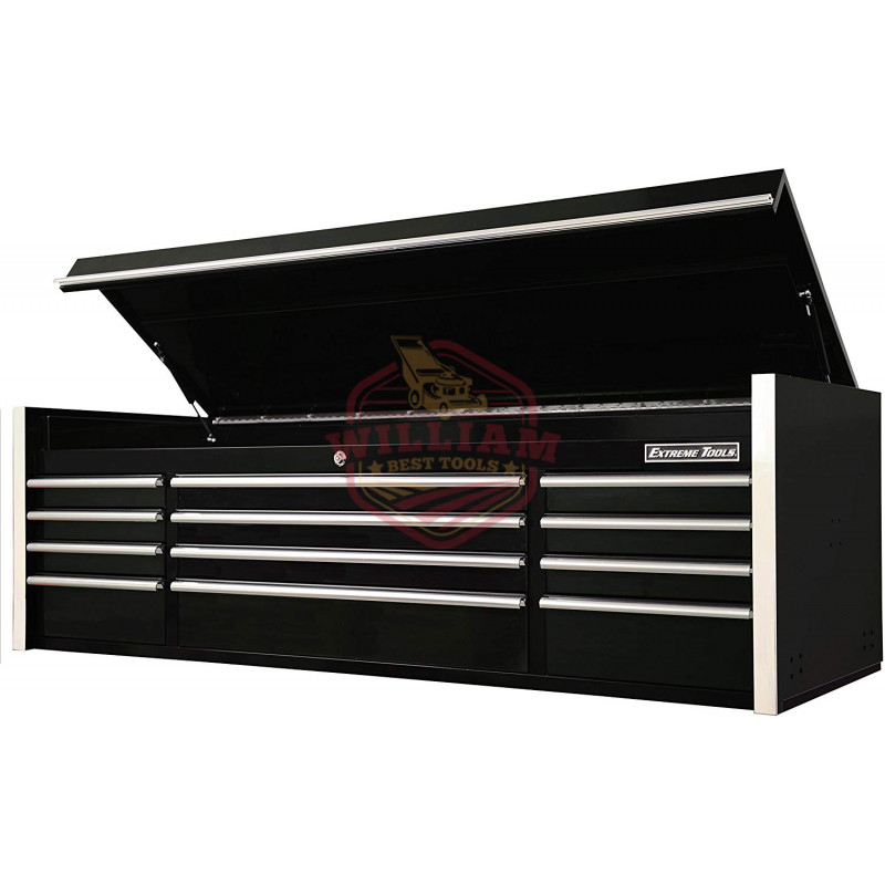 Extreme Tools 72 In. 12-Drawer Top Chest, Black