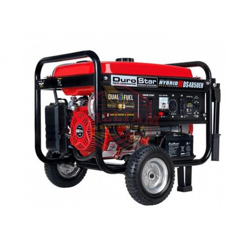 DuroStar DS4850EH 4,850-Watt Dual Fuel Hybrid Generator w/ Electric Start