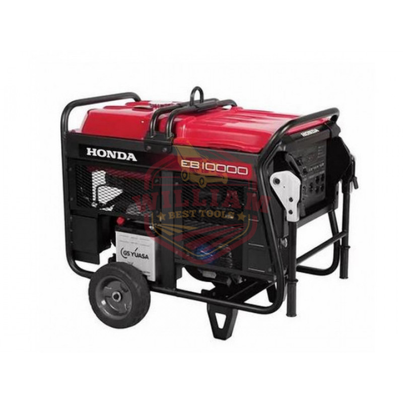 Honda EB10000 - 9000 Watt Electric Start Portable Industrial Generator w/ GFCI Protection (CARB)