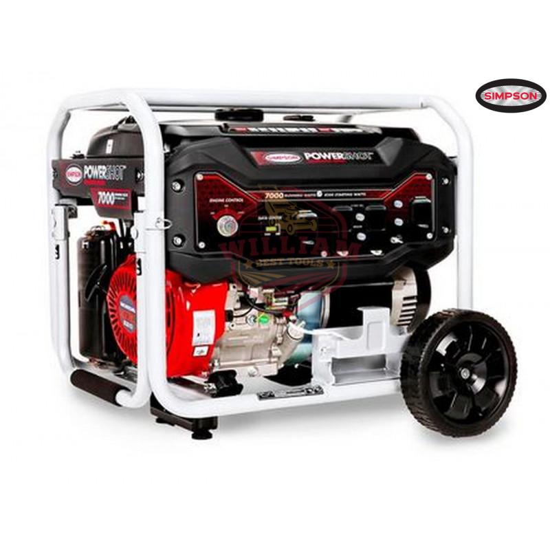 Simpson 70010 7500 Watt Electric Start Gas Powered Portable Generator
