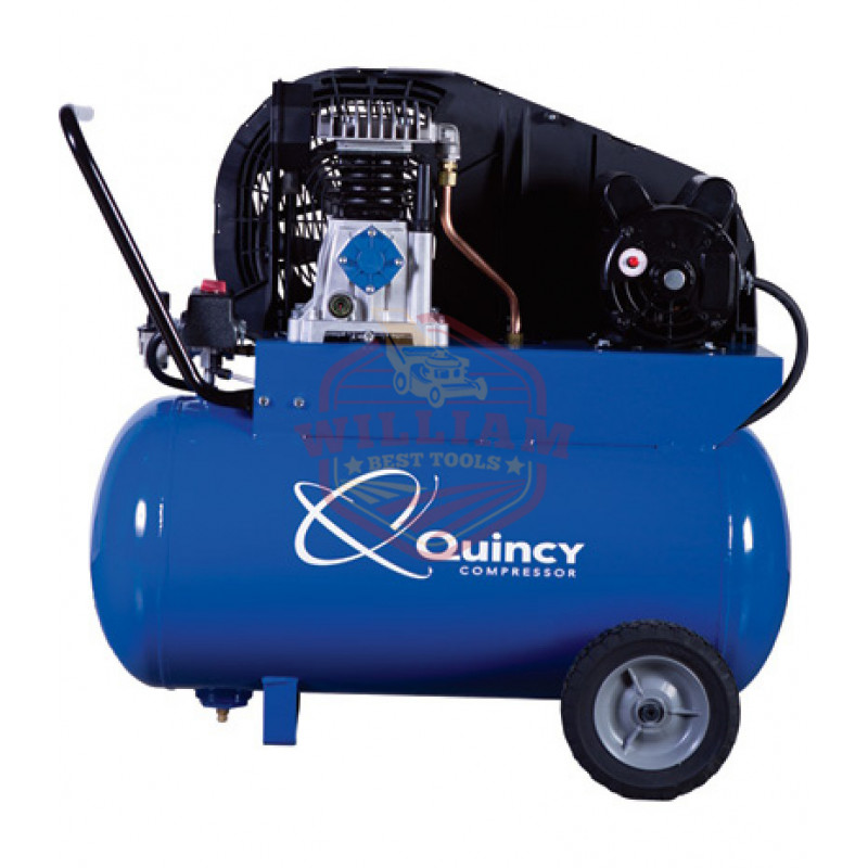 Quincy Single-Stage Portable Electric Air Compressor - 2 HP, 20-Gallon Horizontal, 7.4 CFM