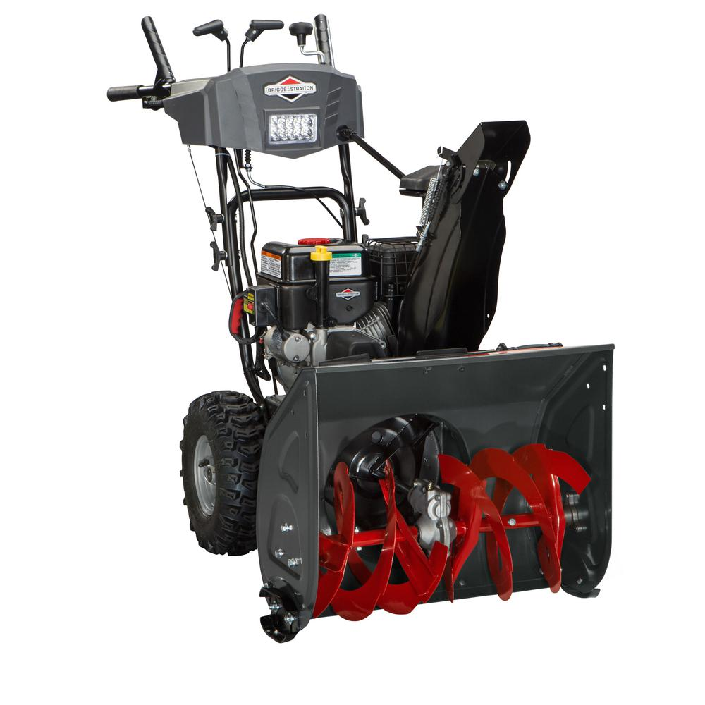 Briggs & Stratton 24 in. 208cc Dual-Stage Electric Start Gas Snowthrower